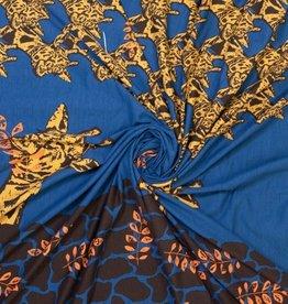 Ilja Jogging boordpaneel giraf jeansblauw