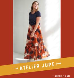 Atelier Jupe Lottie rok met ruffle & Kate rok met knopenpad - Atelier Jupe