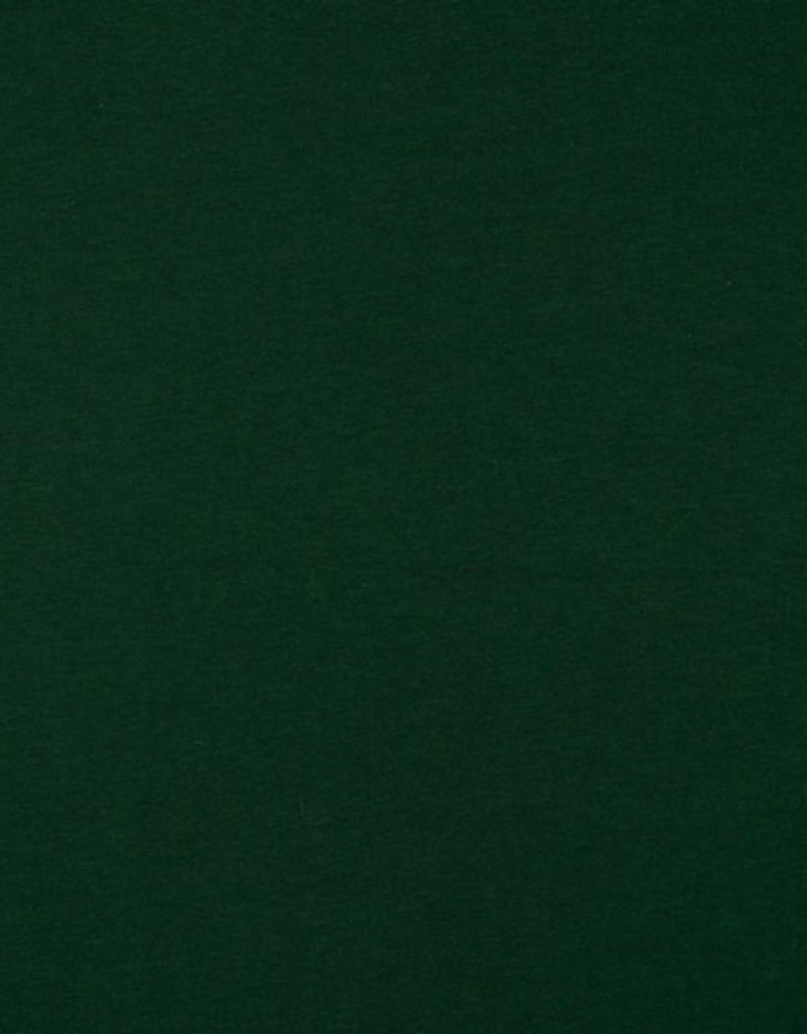 Uni tricot GOTS donkerste groen