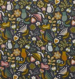 Poppy babyrib corduroy folkloric kitten taupe