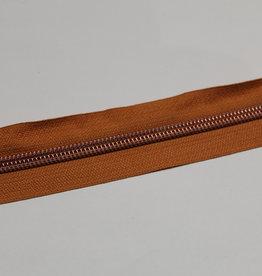 Union Knopf Rits aan de meter koper met metallic  tanden in roségold 6mm
