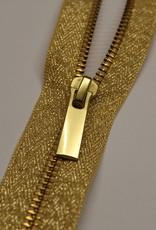 Deelbare metaalrits lurex goud 50cm