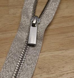 YKK Metaalrits zilver lurex 40cm