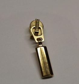 Ritsschuiver sierslot goud geblokt 6mm