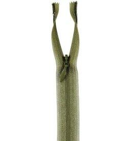 Naadverdekte rits C col.888 armygreen 22cm