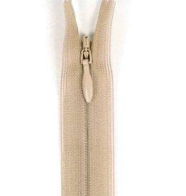 Naadverdekte rits C col.573  beige 60cm