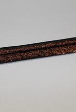 Paspel dubbel koper zwart lurex col.995