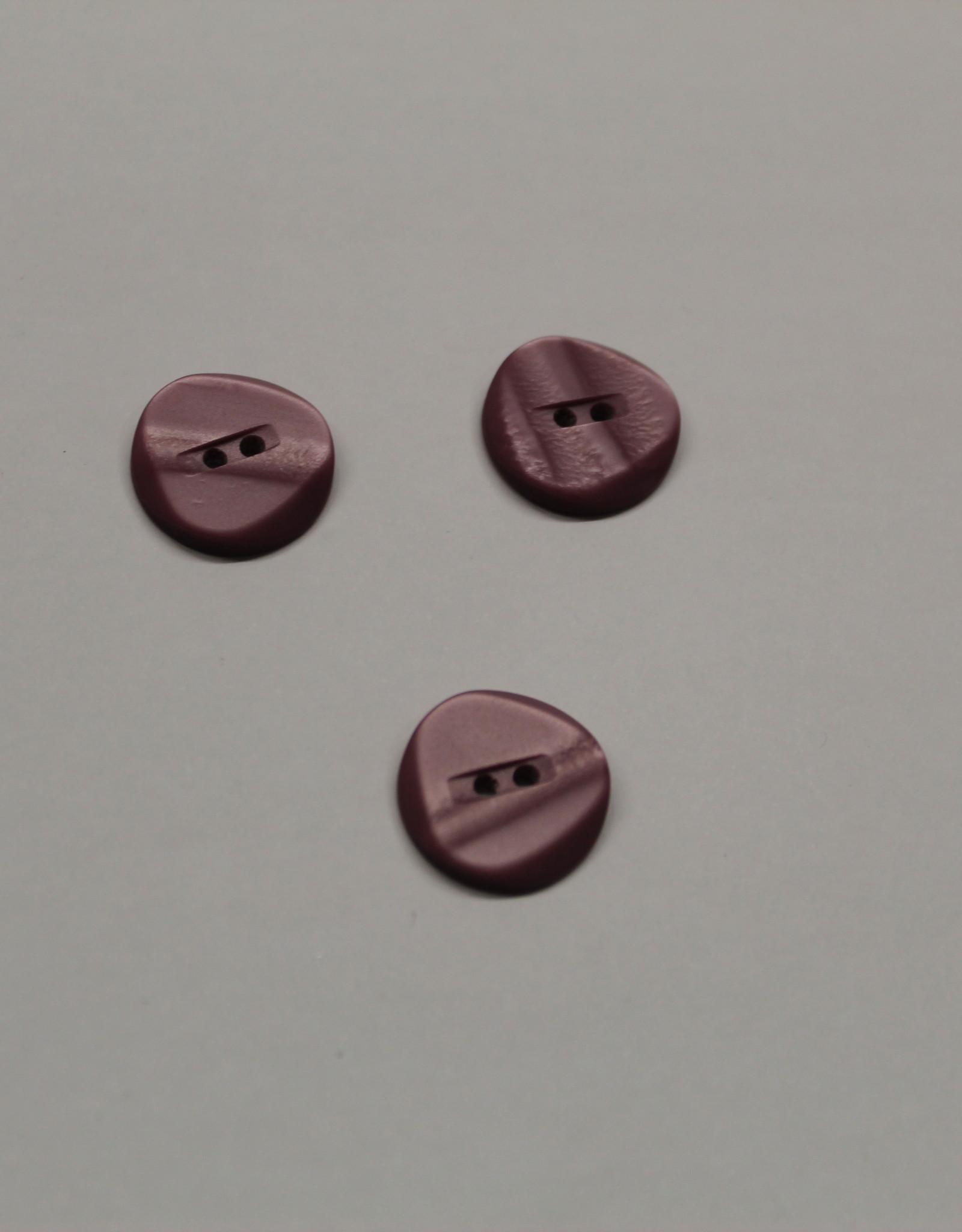 Knoop 19mm glanzend antiek roze