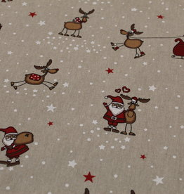 swafing Canvasdoek natuur Rudolf & Santa