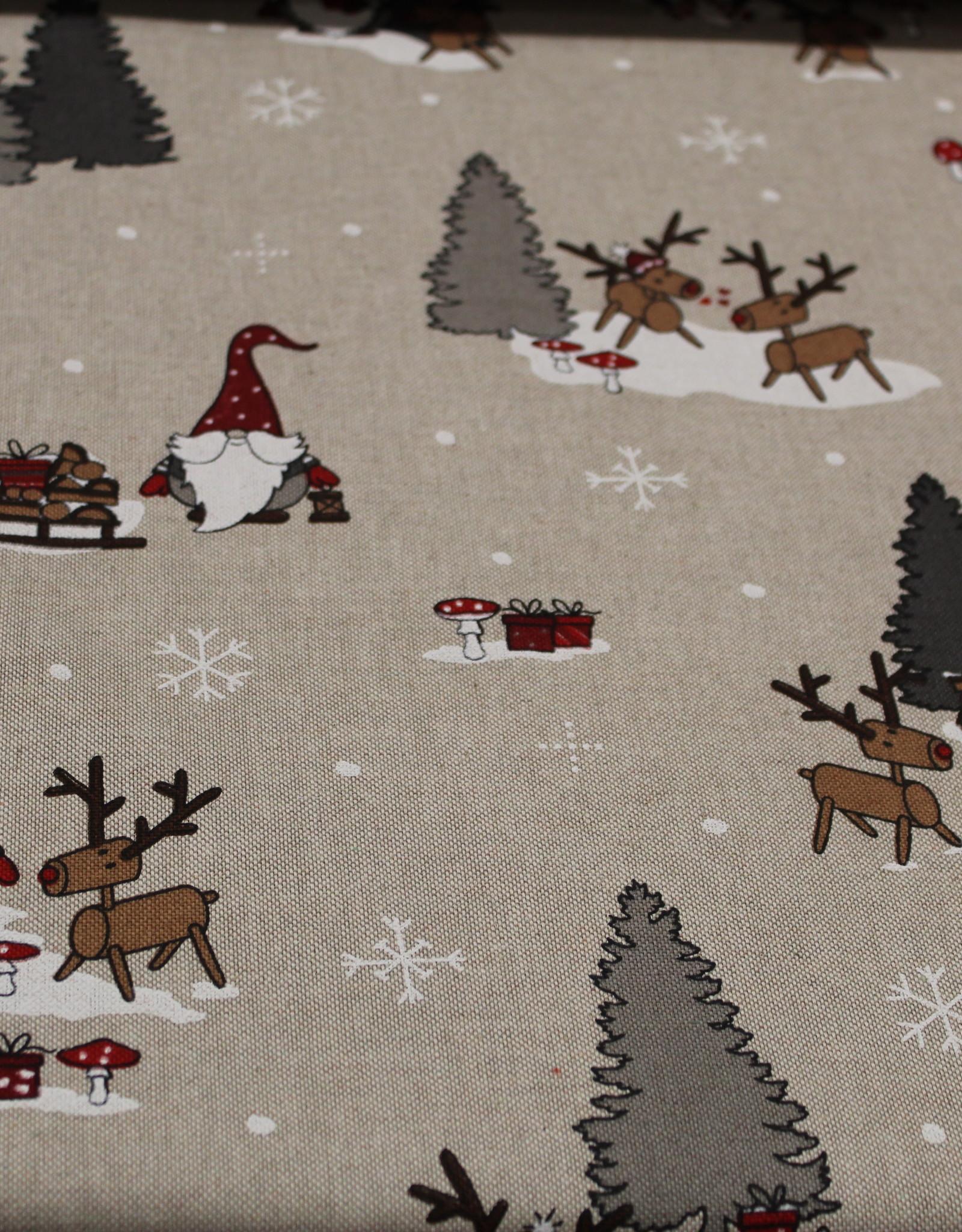 swafing Canvasdoek natuur kersttafereel