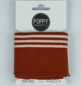 Poppy designed for you Cuff roest met 3 lijnen - Poppy