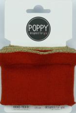 Poppy designed for you Cuff roest met ruffle met gouden bies - Poppy