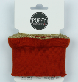 Poppy designed for you Cuff roest met ruffle met gouden bies - Poppy