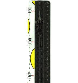 Optilon Synthetische rits druppel S40 col.000 25cm
