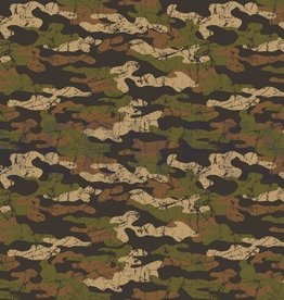 Poppy French Terry Army Camouflage bruin
