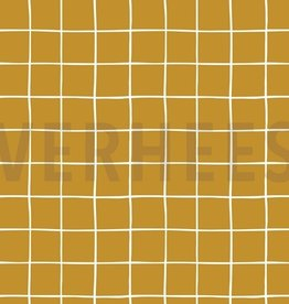 Poppy Soft sweat Grid oker