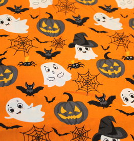 Halloween katoentje : spookjes, spinnen, pompoenen