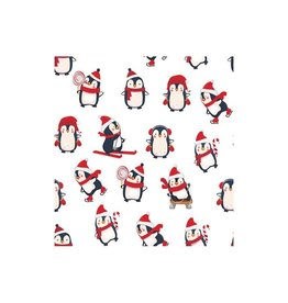 Poplin Christmas Happy pinguin