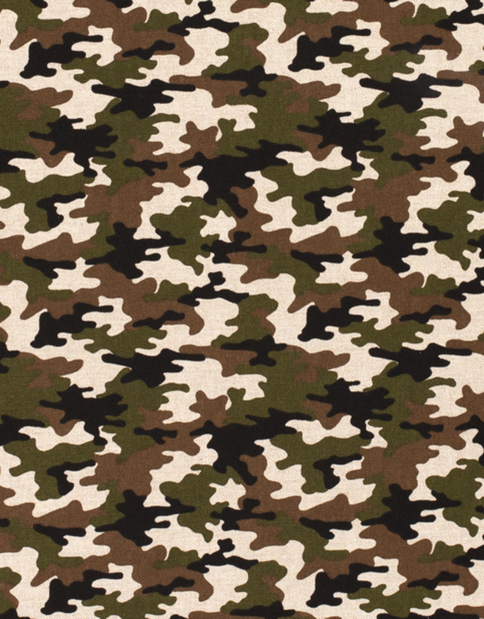 Nooteboom Deco canvas linnenlook camouflage khaki