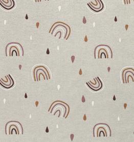 Nooteboom Deco canvas Loneta regenboog mint