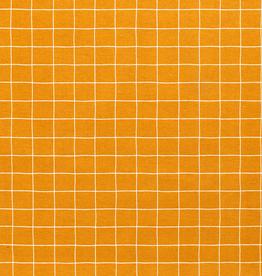 Nooteboom Deco canvas Loneta grid ruiten oker