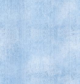 French terry jeansprint lightblue denim