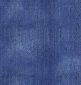 French terry jeansprint indigo denim