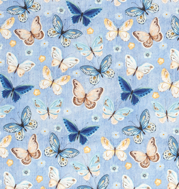 Tricot jeans lightblue met vlinders