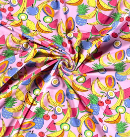 Tricot tropical fruit rose