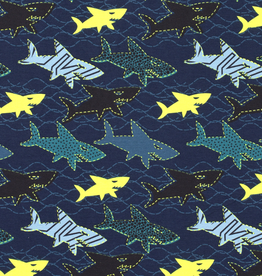 Tricot neon sharks in the sea