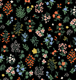 Cotton&Steel Strawberry fields black - Riffle Paper Co