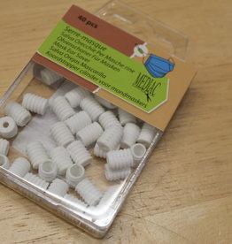Pakket koordstoppers voor mondmasker elastiek wit