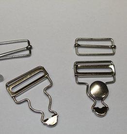 Pakket tuingesp + knoop + schuiver zilver 35mm (per2)