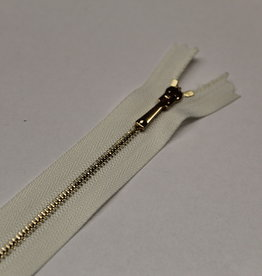 Sierrits zeer fijn ecru met gouden tandjes en sierslot 20cm