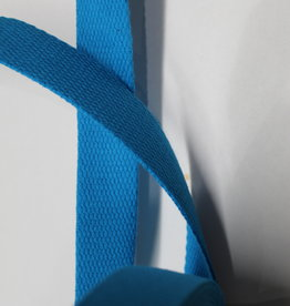 Tassenband katoen 25mm aqua