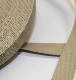 Tassenband katoen 25mm beige