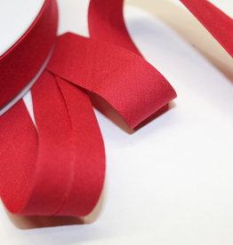 Biais polykatoen 20mm op rol pastel rood col.71