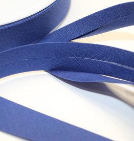 Biais polykatoen 20mm op rol koningsblauw col.24