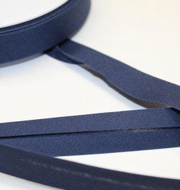 Biais polykatoen 20mm op rol marine blauw col.23