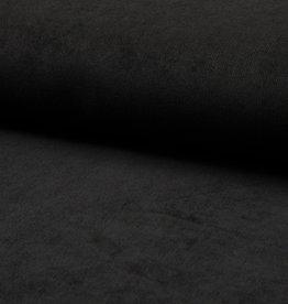Babycord ribfluweel met stretch zwart