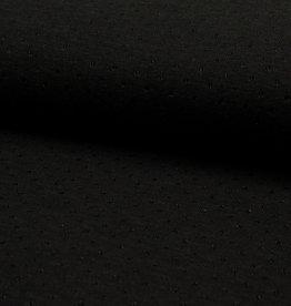 Breisel dobby zwart