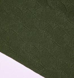 Mind the Maker Organic leaf jacquard - green khaki