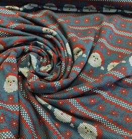 Soft Sweat Santa fakeknit jeansblauw/rood - ready for Christmas