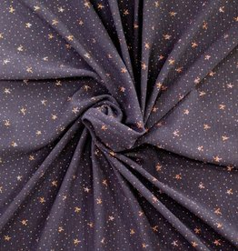 Structuurtricot Glitter star koper lurex