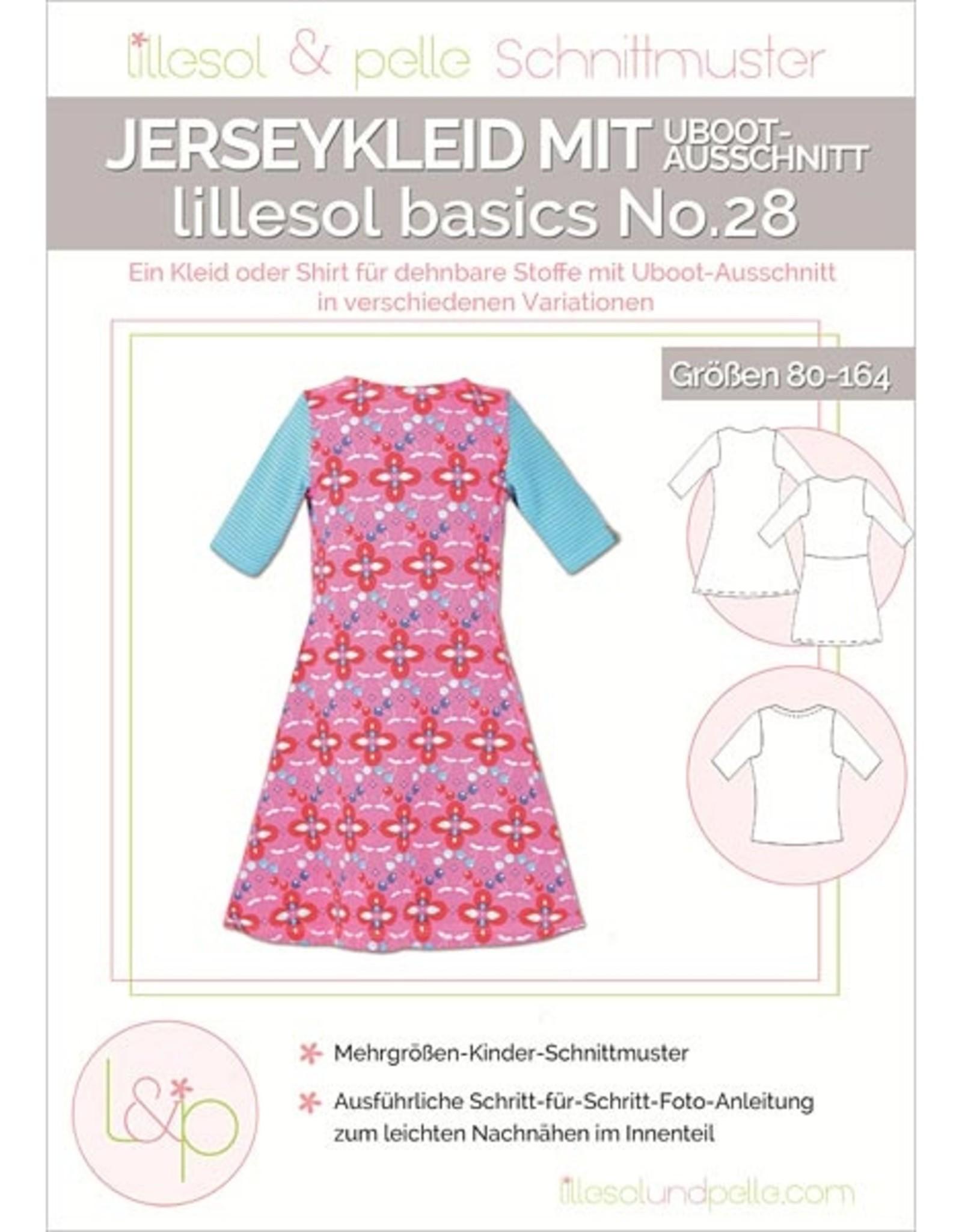 Jerseykleed met boothals no.28