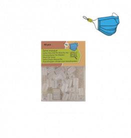 Pakket koordstoppers voor mondmasker elastiek transparant