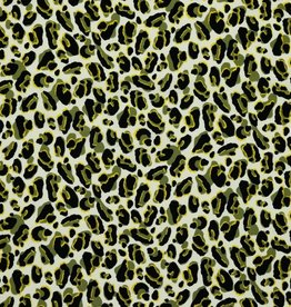 Poppy Pearl Peach khaki/zand leopard gevlekt