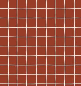 Poppy Soft sweat Grid Terracotta
