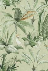Poppy Canvas digital tropical print