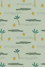 Poppy Jersey GOTS Crocodile mint*